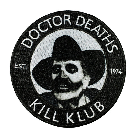 Vincent Price Doctor Deaths Patch Kill Klub Kreepsville 666 Embroidered Iron On