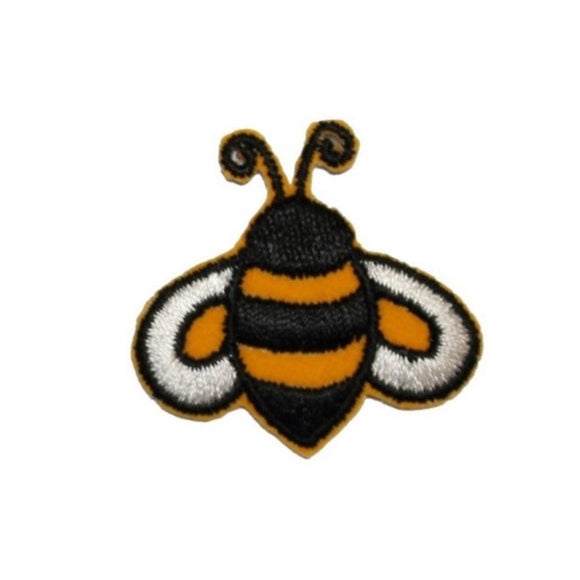 ID 1619B Bumblebee Emblem Patch Cute Honey Bee Bug Embroidered Iron On Applique