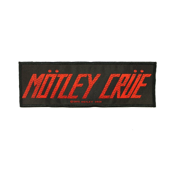 Motley Crue Band Logo Patch Hard Rock Band Heavy Metal Woven Sew On Applique