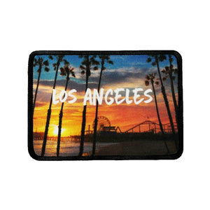 Los Angeles California Patch Pier Beach Travel Dye Sublimation Iron On Applique