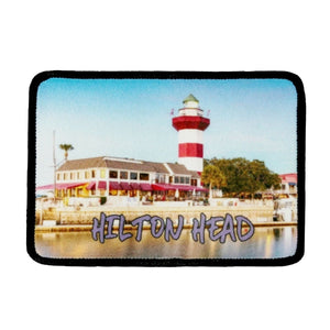Hilton Head Island Patch Lighthouse Travel Dye Sublimation Iron On Applique