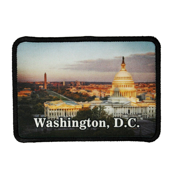 Washington DC Capital Patch America Travel Dye Sublimation Iron On Applique