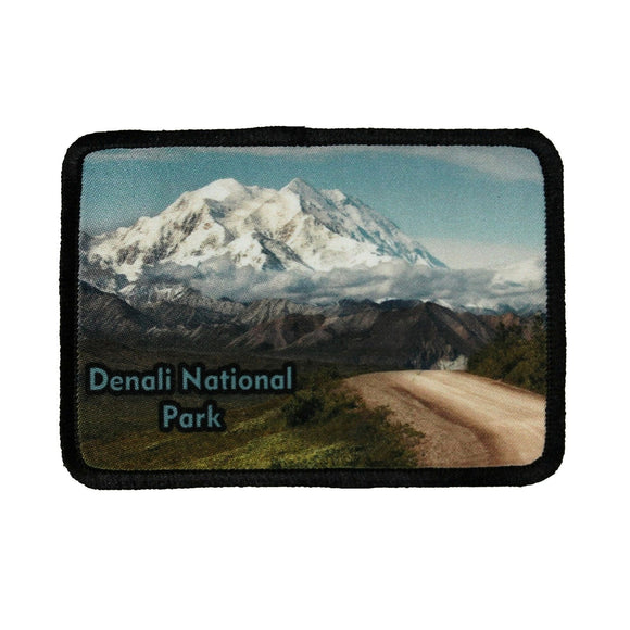 Denali National Park Patch Travel Mountain Dye Sublimation Iron On Applique