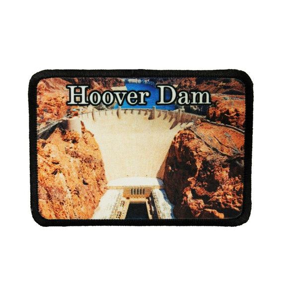 Hoover Dam Patch National Landmark Travel Lake Dye Sublimation Iron On Applique