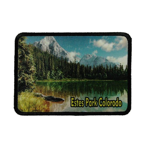 Estes Park Colorado Patch Travel Mountain Dye Sublimation Iron On Applique