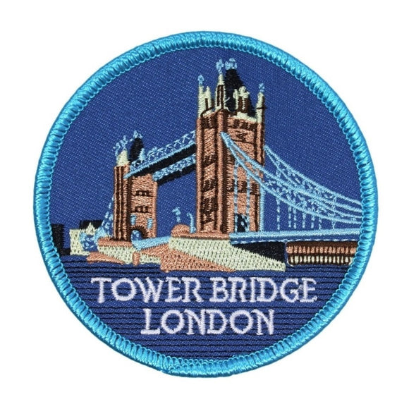 Tower Bridge London England Patch Travel Badge UK Embroidered Iron On Applique