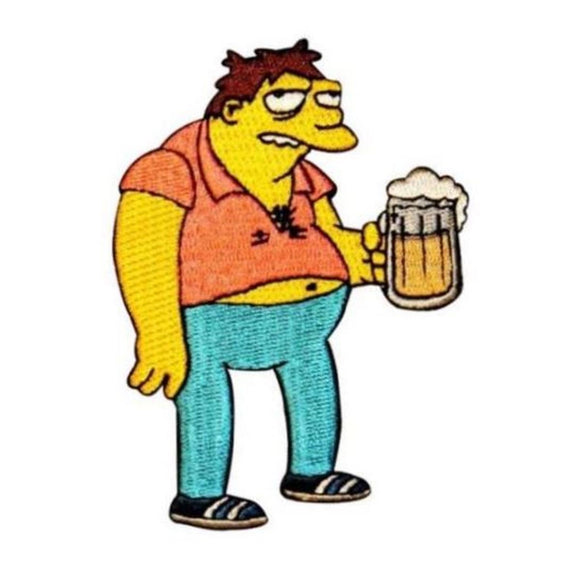 The Simpsons Barney With Beer Patch Moe's Bar Duff Embroidered Iron On Applique