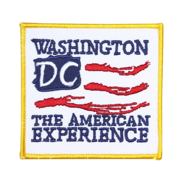 Washington DC The American Experience Patch Tour Embroidered Iron On Applique