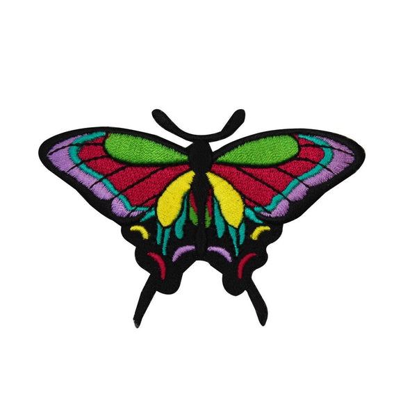 Colorful Butterfly Patch Multicolor Insect Bug Embroidered Iron On Applique