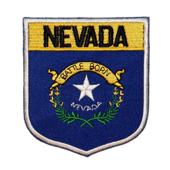 State Flag Shield Nevada Patch Badge Travel USA Embroidered Iron On Applique
