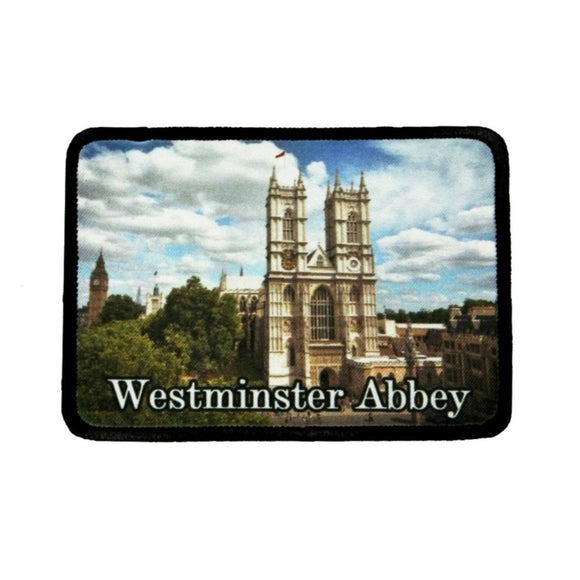 Westminster Abbey London Patch Church UK Travel Dye Sublimation Iron On Applique