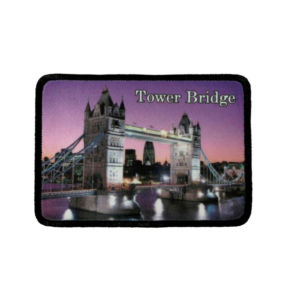 Tower Bridge London Patch UK Landmark Travel Dye Sublimation Iron On Applique