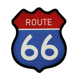 Route 66 Road Sign Patch Travel Historic Road Dye Sublimation Iron On Applique