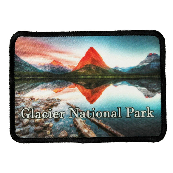 Glacier National Park Patch Montana Travel Dye Sublimation Iron On Applique