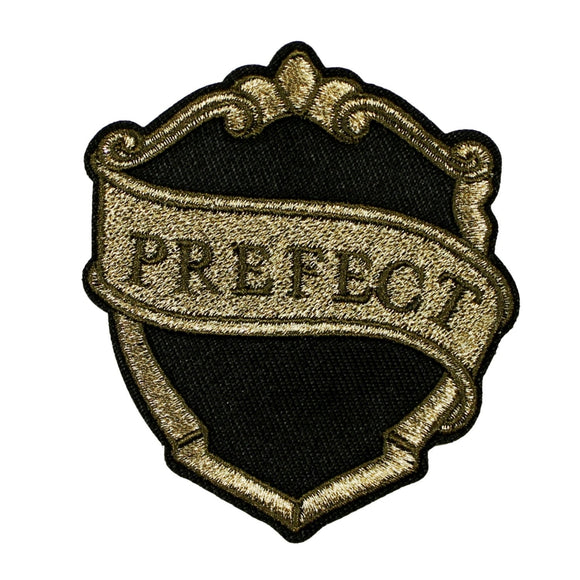 Harry Potter Prefect Badge Patch Authority Emblem Embroidered Iron On Applique