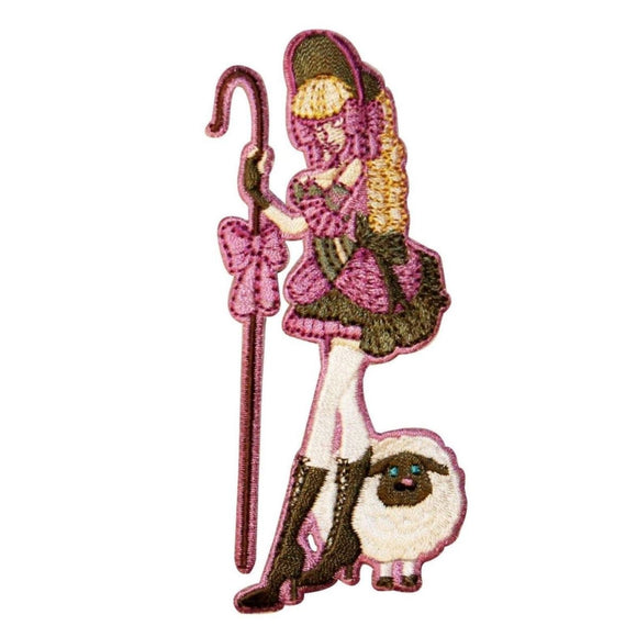 Rebel Toons Sexy Bo Peep Patch Cartoon Naughty Sheep Embroidered IronOn Applique