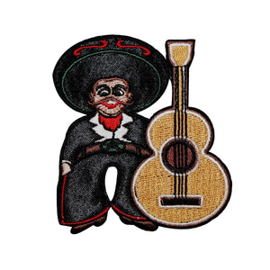 Artist Chuck Wagon Mexican Senor Guitar Patch Mariachi Band Iron On Applique