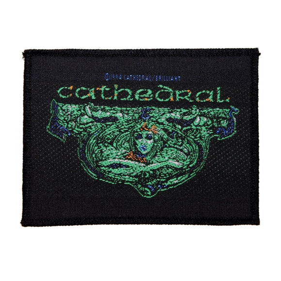Cathedral Soul Sacrifice Rectangle Patch Band Name Doom Metal Sew On Applique