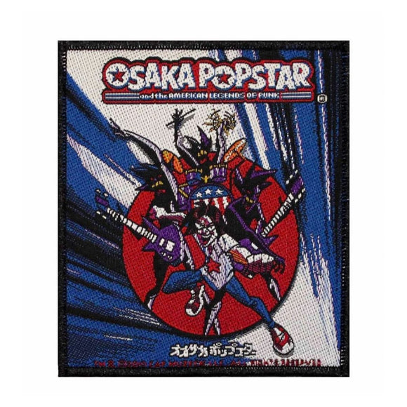 Osaka Popstar Album Cover Art Patch Punk Rock Band Music Woven Sew On Applique