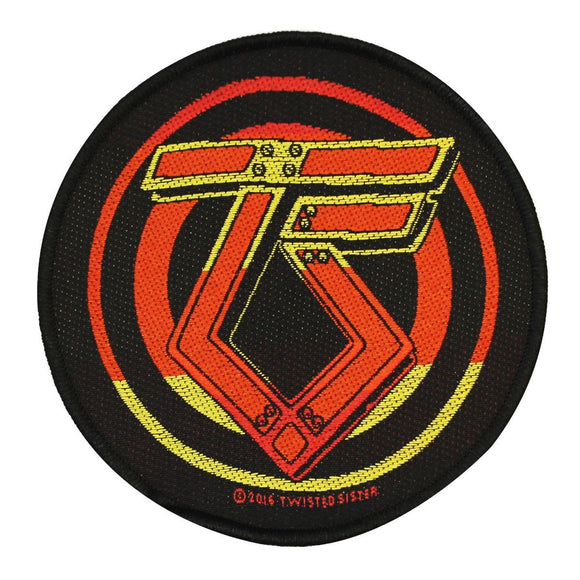 Twisted Sister Round Logo Patch Heavy Metal Band Music Woven Sew On Applique
