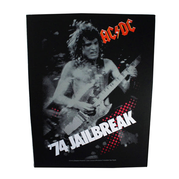XLG AC/DC 74 Jailbreak Back Patch Angus Young Rock Band Jacket Sew On Applique
