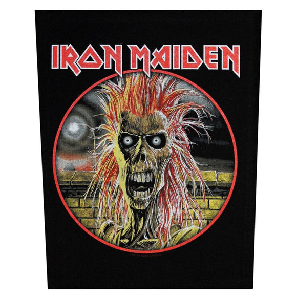 XLG Iron Maiden First Album Back Patch Rock Music Woven Jacket Sew On Applique