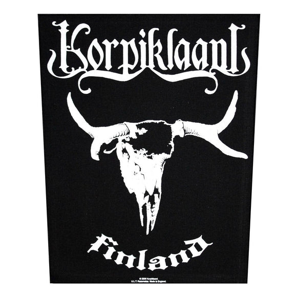 XLG Korpiklaani Finland Back Patch Folk Metal Music Band Jacket Sew On Applique