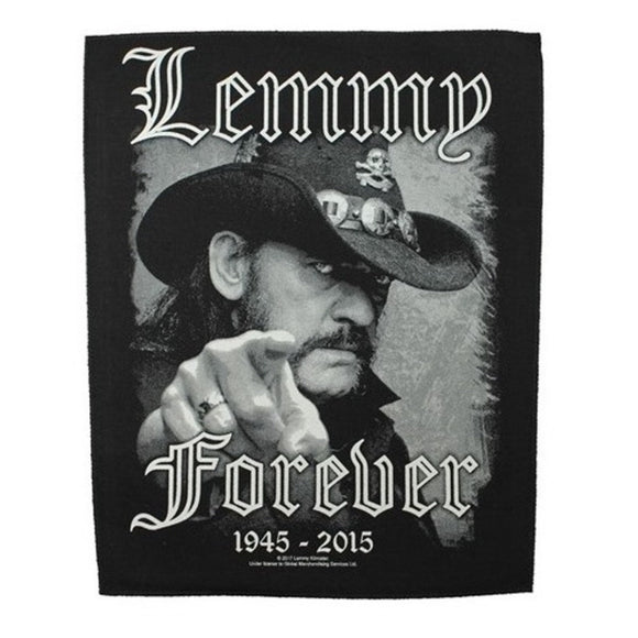 XLG Lemmy Forever 1945-2015 Motorhead Back Patch Heavy Metal Sew On Applique