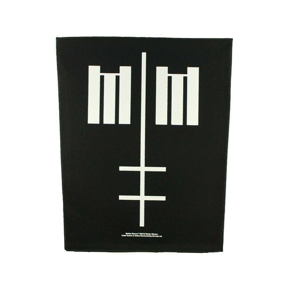 XLG Marilyn Manson Cross Logo Back Patch Shock Rock Metal Jacket Sew On Applique