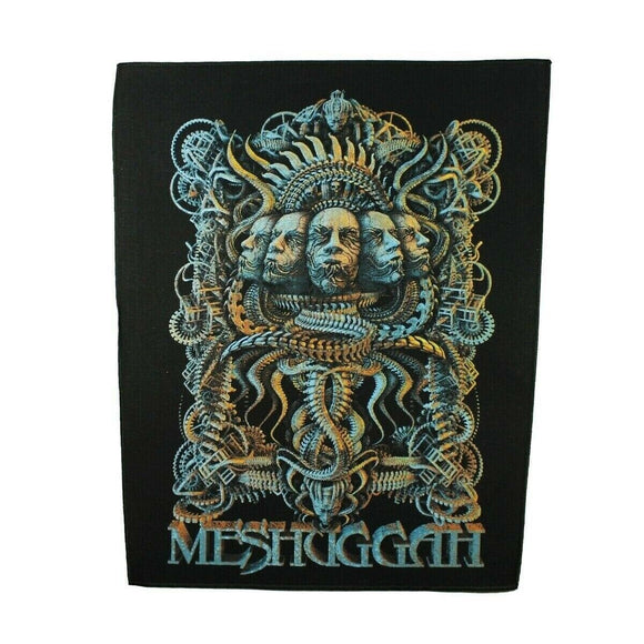 XLG Meshuggah 5 Faces Back Patch Swedish Extreme Metal Jacket Sew On Applique