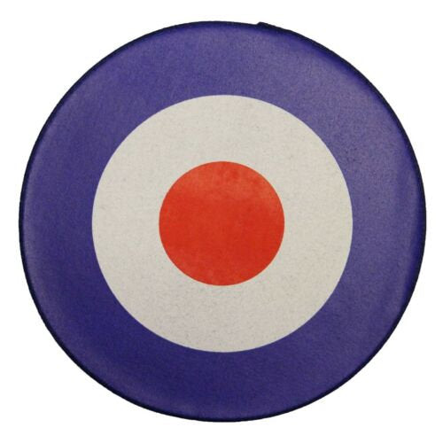 XLG Mod Target Back Patch Bulls Eye Roundel Disc Symbol Jacket Sew On Applique