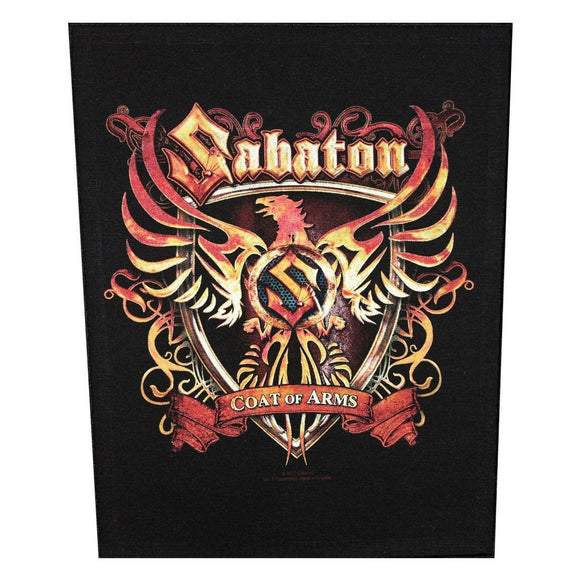 XLG Sabaton Coat Of Arms Back Patch Power Metal Apparel Woven Sew On Applique