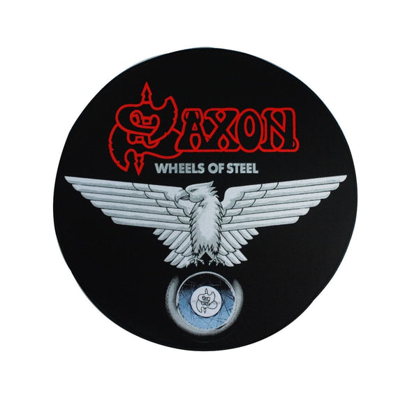XLG Saxon Wheels of Steel Back Patch Album Art Heavy Metal Band Sew On Applique