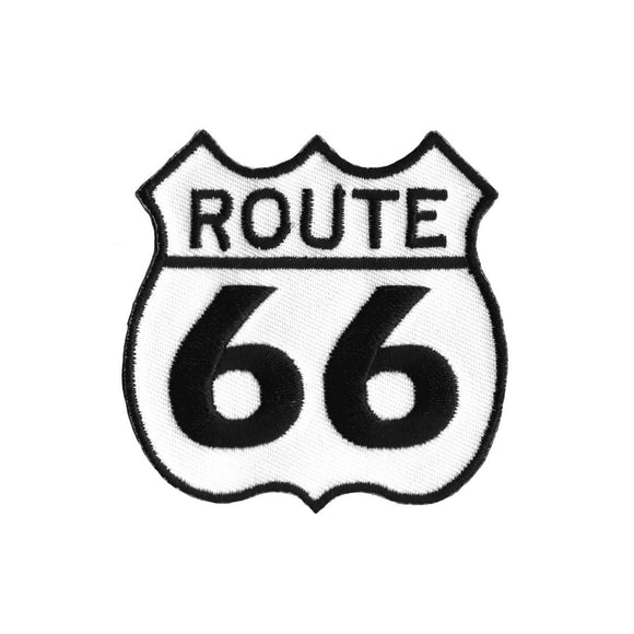 US Route 66 Patch USA Historic Highway Road Sign Embroidered Iron On Applique