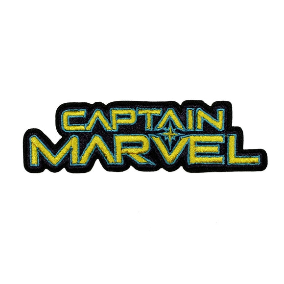 Captain Marvel Logo Patch Superhero Woman Disney Embroidered Iron On Applique