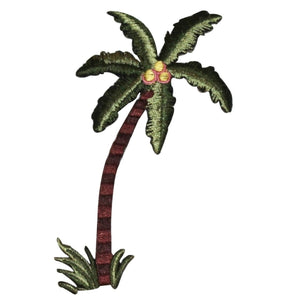 ID 0042 Tropical Palm Tree Patch Beach Ocean Trees Embroidered Iron On Applique