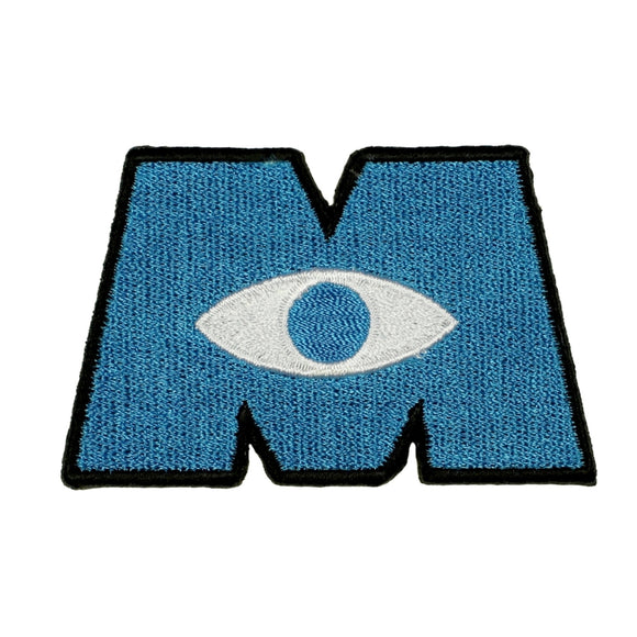 Disney Monster Inc Logo Patch Scare Movie Badge Embroidered Iron On Applique