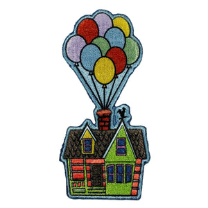 Disney Up Balloon House Patch Float Badge Movie Embroidered Iron On Applique