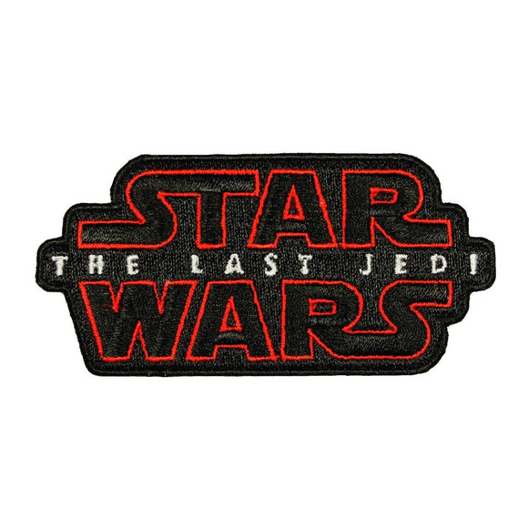 Disney Star Wars The Last Jedi Patch New Movie Logo Title Badge Iron On Applique