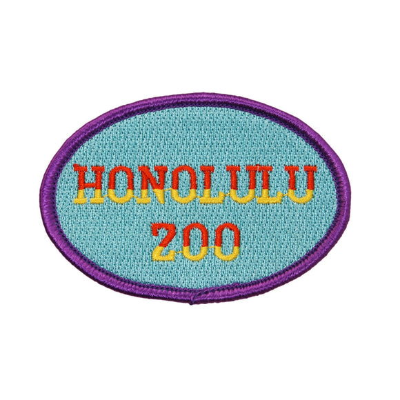 Honolulu Zoo Patch Hawaii Queen Park Travel Badge Embroidered Iron On Applique