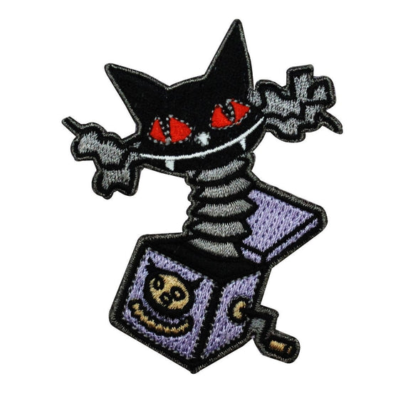 Disney Nightmare Before Christmas Cat In The Box Patch Halloween Iron On Applique