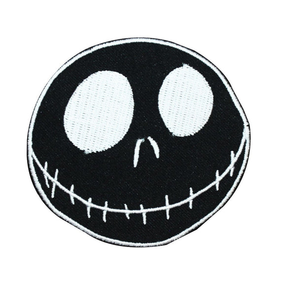 Disney Nightmare Before Christmas Negative Jack Face Patch Iron On Applique