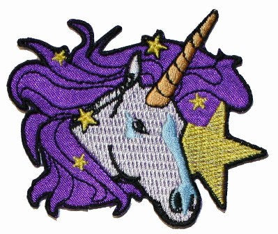Purple Unicorn Pony Patch Legendary Fantasy Horse Embroidered Iron On Applique