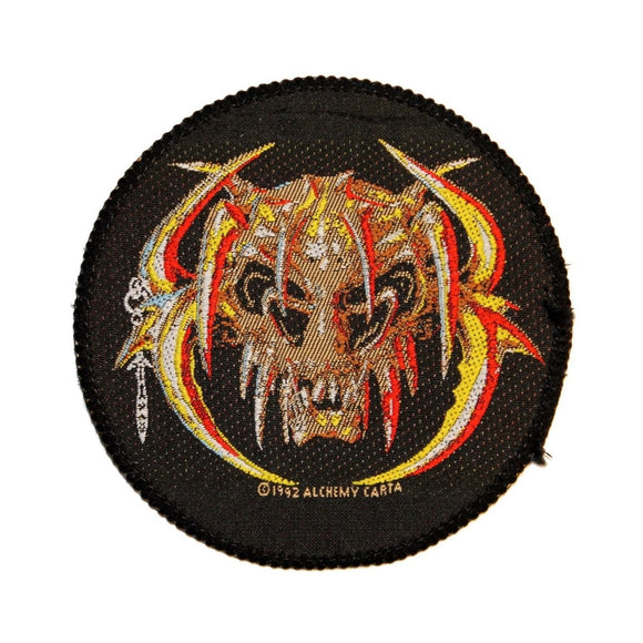 Horned Skeleton Chaos Creature Monster Alchemy Carta Woven Sew On Applique Patch