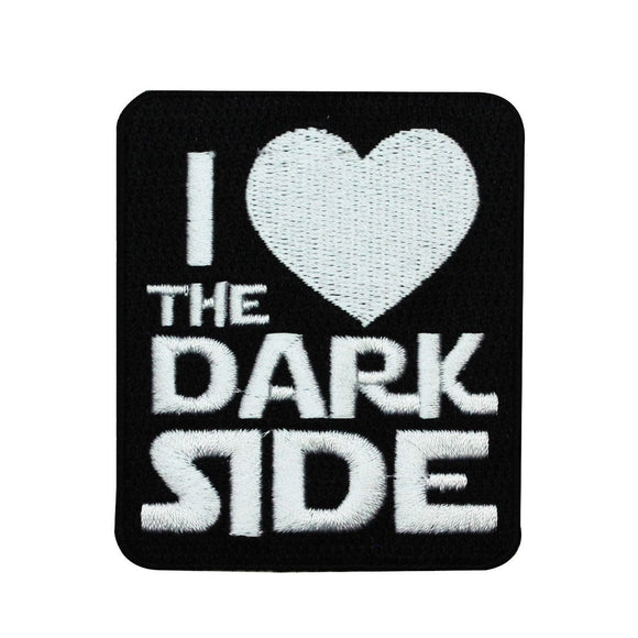 Disney Star Wars I Heart the Dark Side Patch Officially Licensed Iron On