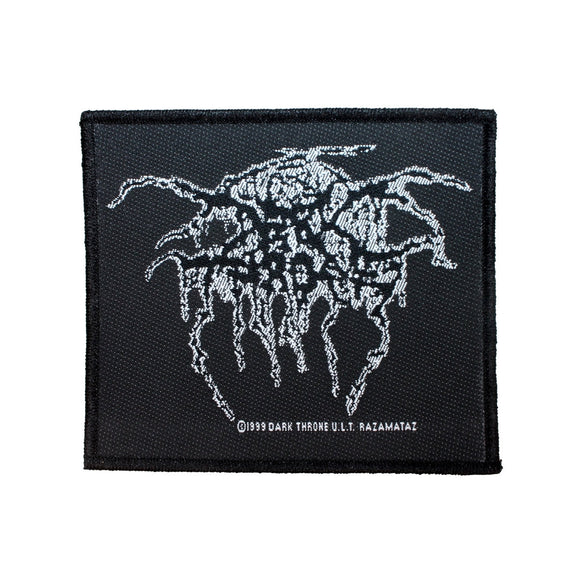 Darkthrone Lurex Logo Patch Band Name Black Metal Jacket Woven Sew On Applique