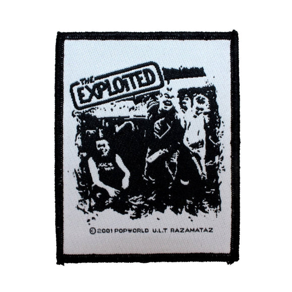 The Exploited Band Pose Patch Punk Rock Music Jacket Woven Sew On Applique