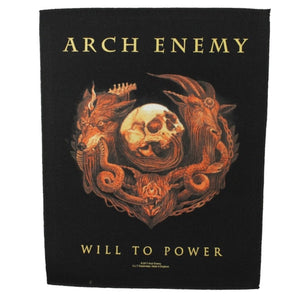 XLG Arch Enemy Will To Power Back Patch Album Art Death Metal Sew On Applique