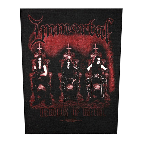 XLG Immortal Demons Of Metal Back Patch Black Metal Music Jacket Sew On Applique