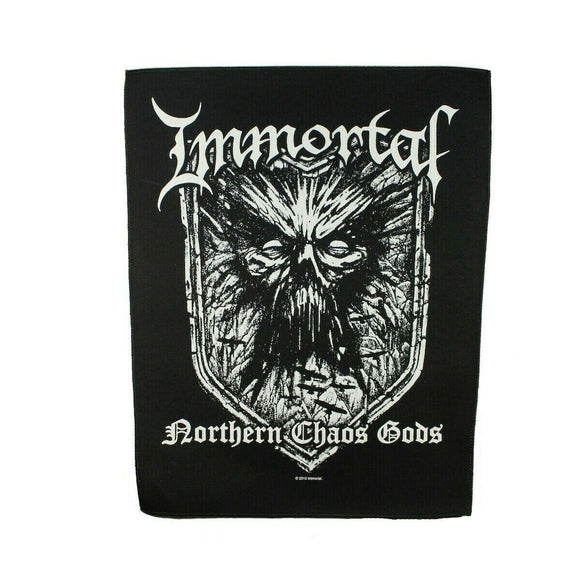 XLG Immortal Northern Chaos Gods Back Patch Heavy Black Metal Sew On Applique